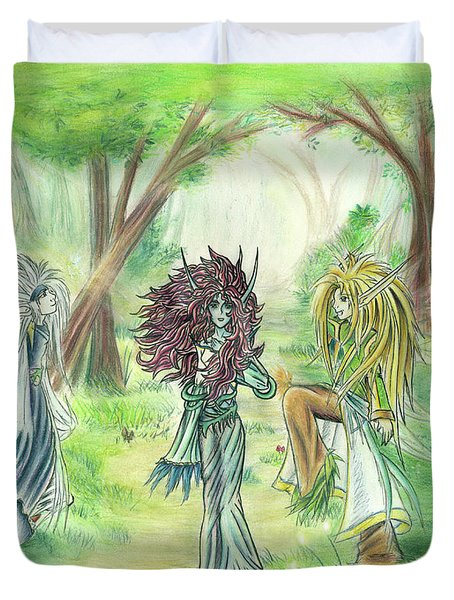 The Fae - Sylvan Creatures Of The Forest Duvet Cover