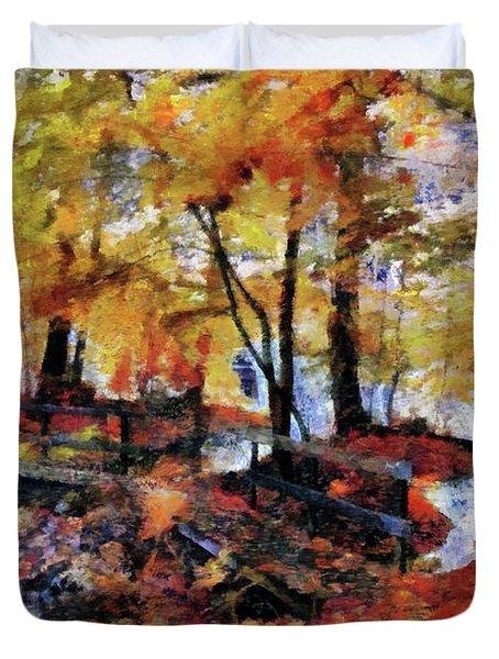The Failing Colors Of Autumn Duvet Cover