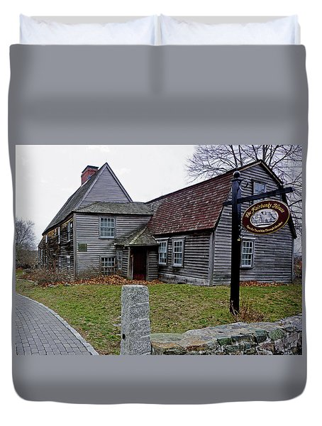 Duvet Cover featuring the photograph The Fairbanks House by Wayne Marshall Chase