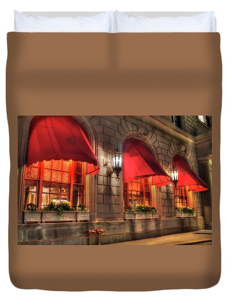 Duvet Cover featuring the photograph The Fairmont Copley Plaza Hotel - Boston by Joann Vitali