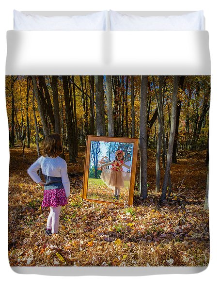 The Fairy In The Mirror Duvet Cover