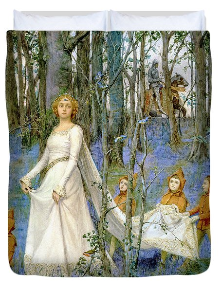 The Fairy Wood Duvet Cover by Henry Meynell Rheam