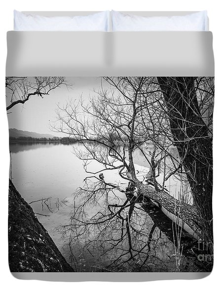 Duvet Cover featuring the photograph The Fallen by Yuri Santin