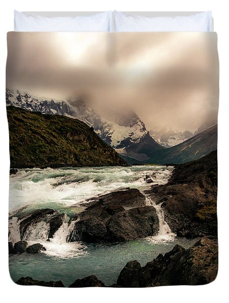 The Falls Duvet Cover by Andrew Matwijec