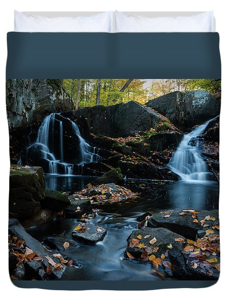 The Falls Of Black Creek In Autumn IIi Duvet Cover