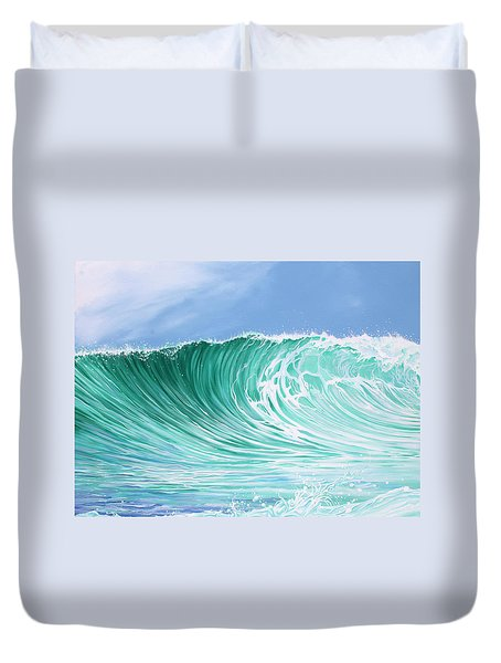 Duvet Cover featuring the painting The Falls by William Love