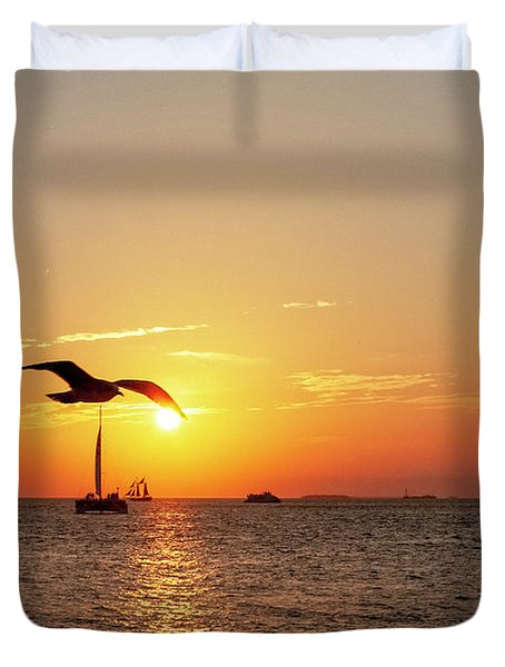The Famous Key West Sunset  Duvet Cover