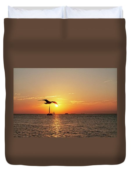 The Famous Key West Sunset  Duvet Cover