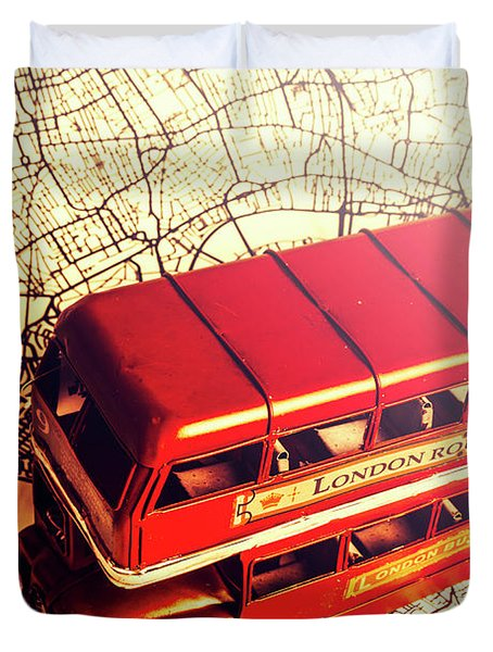 The Famous Red Bus Duvet Cover