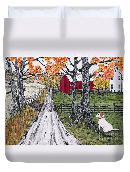 Sadie The Farm Dog Duvet Cover