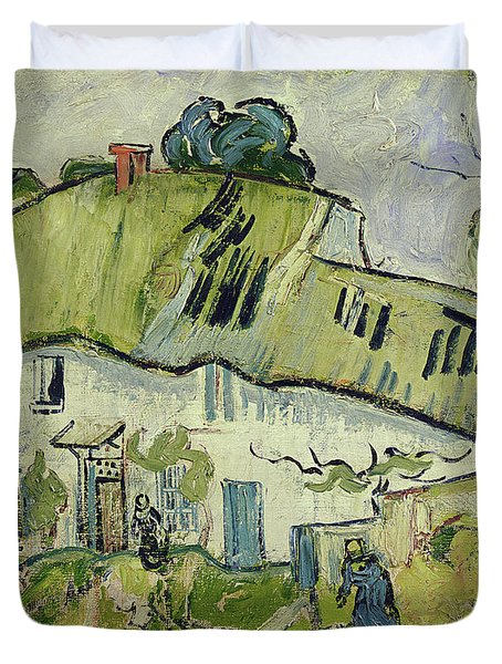 The Farm In Summer Duvet Cover by Vincent van Gogh