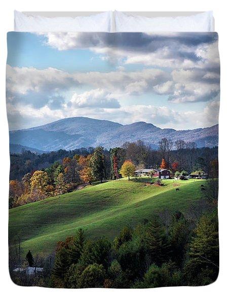 The Farm On The Hill Duvet Cover