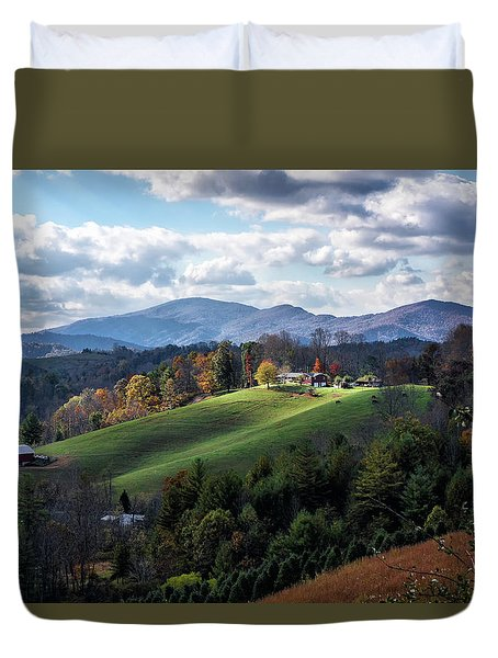 The Farm On The Hill Duvet Cover