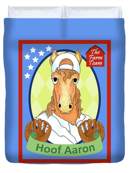 The Farm Team - Hoof Aaron Duvet Cover