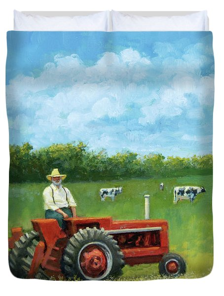 The Farmer Duvet Cover