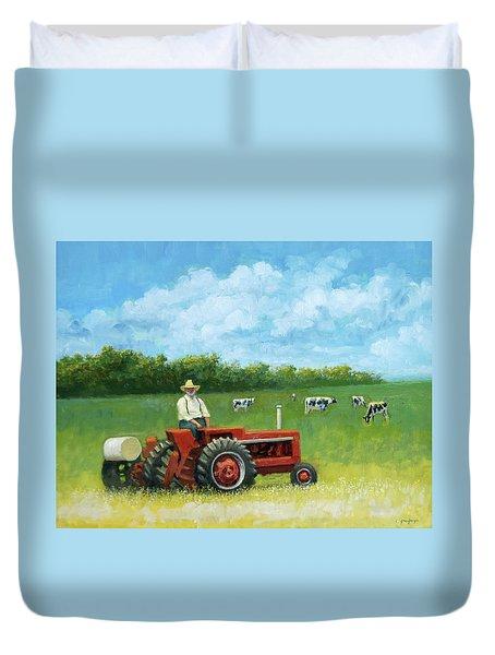 The Farmer Duvet Cover