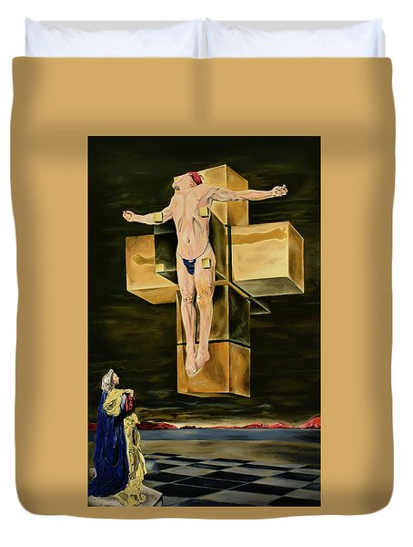 The Father Is Present -after Dali- Duvet Cover by Ryan Demaree