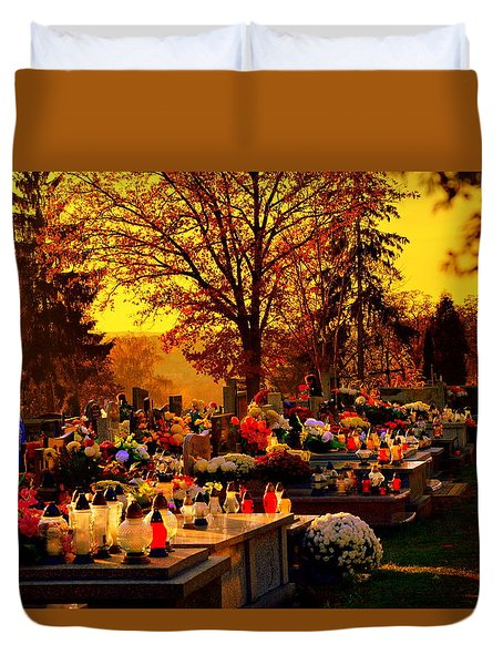 The Feast Of The Dead Duvet Cover