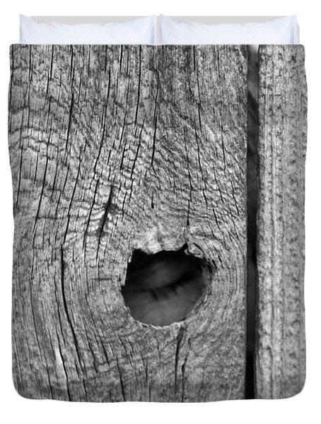 The Fence That Sleeps Duvet Cover by Douglas Barnett