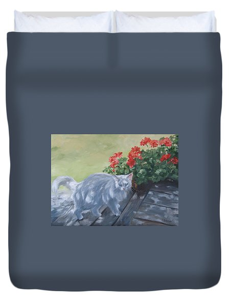 A Feral Cloud Duvet Cover