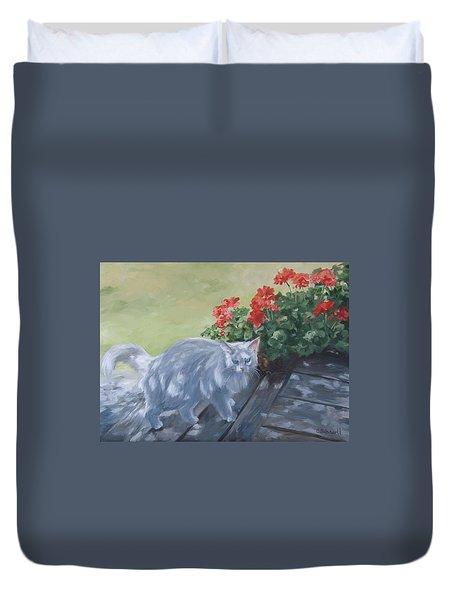 A Feral Cloud Duvet Cover by Connie Schaertl