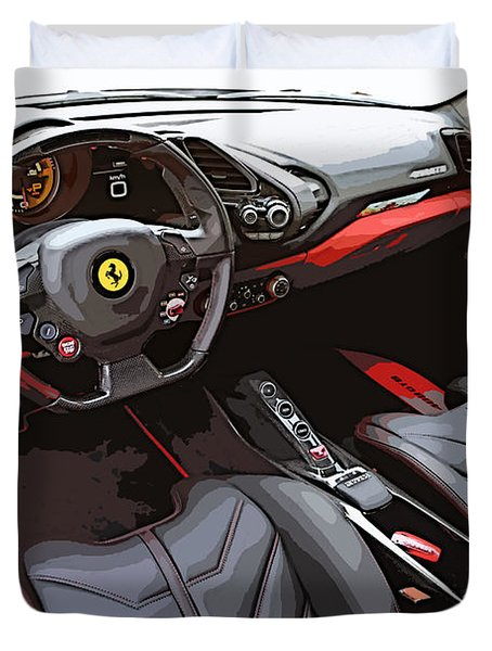 The Ferrari 488 2016 Duvet Cover