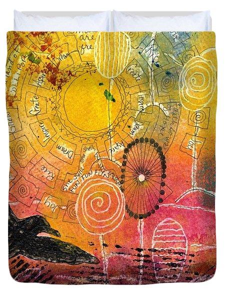 The Ferris Wheel Of Life - Wip Duvet Cover