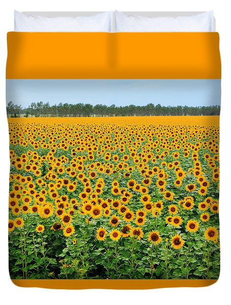 The Field Of Suns Duvet Cover