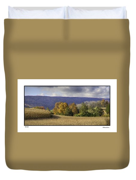 Duvet Cover featuring the photograph The Field by R Thomas Berner