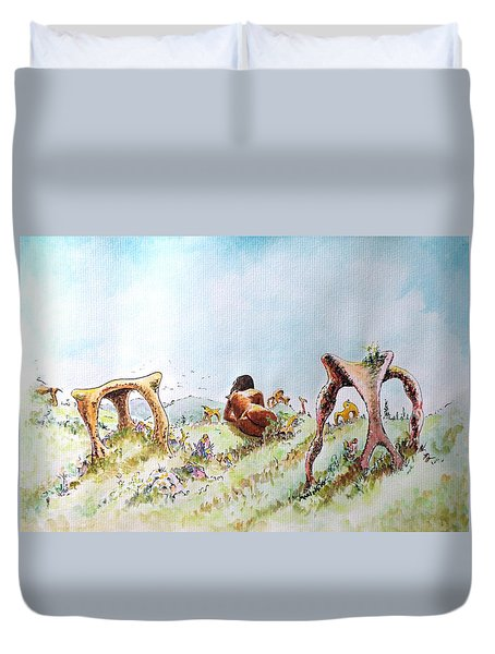 The Fields Of Artemis Duvet Cover