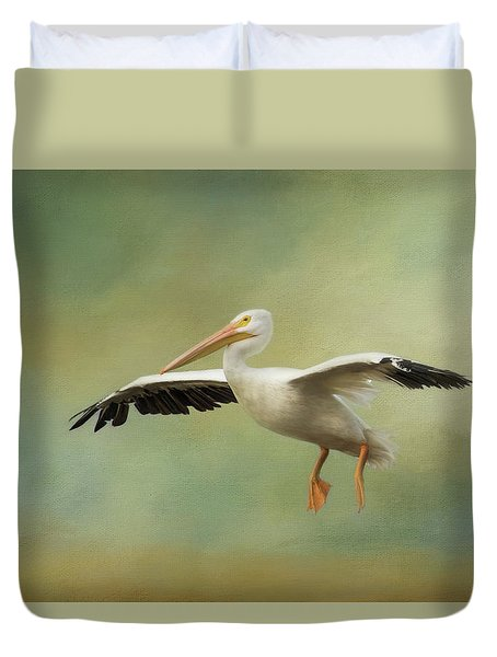 Duvet Cover featuring the photograph The Final Approach by Kim Hojnacki