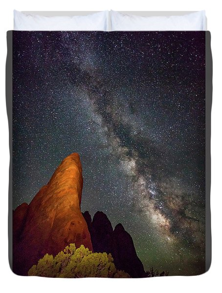 The Fins At Sand Dune Arch Duvet Cover