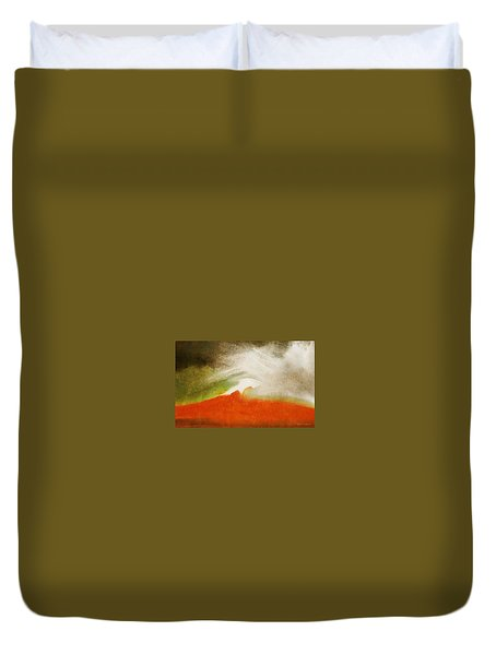 The Fire Mountain - Cotapaxi Duvet Cover