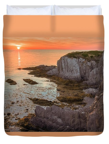 Nova Scotian Sunset Duvet Cover