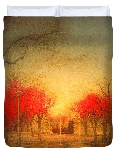 The Fire Trees Duvet Cover