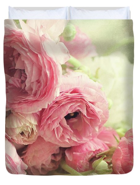 The First Bouquet Duvet Cover by Sylvia Cook