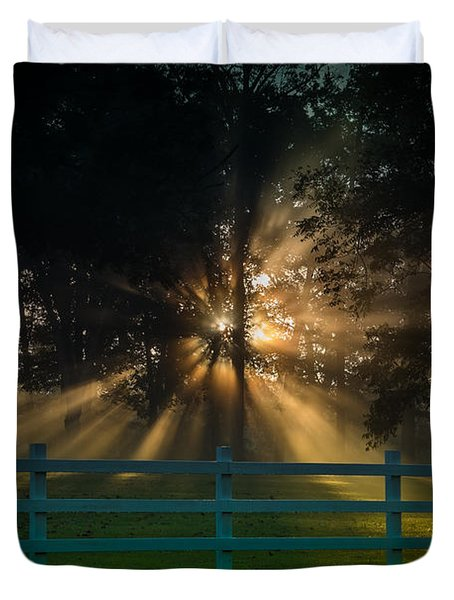 The First Day Of Creation Duvet Cover