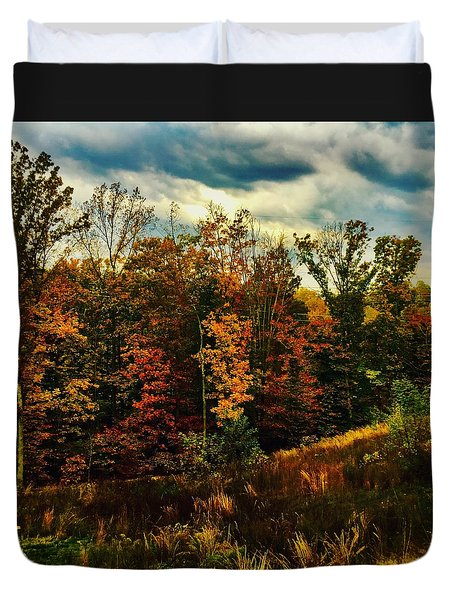 The First Days Of Fall Duvet Cover