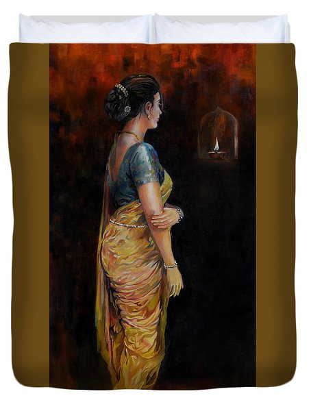 The First Diwali Duvet Cover
