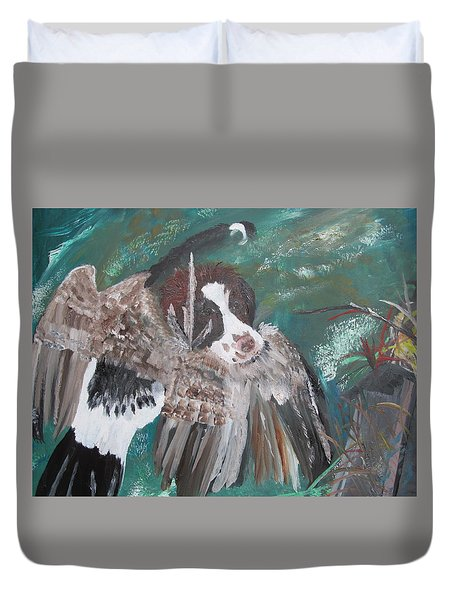 The First Retrieve Duvet Cover