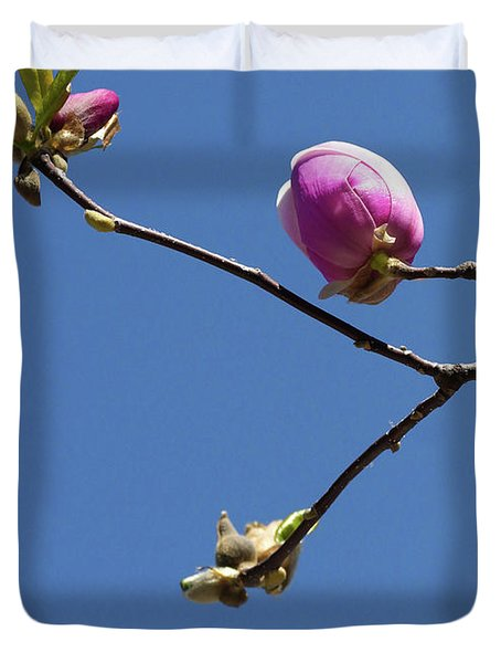 The First To Bloom Duvet Cover