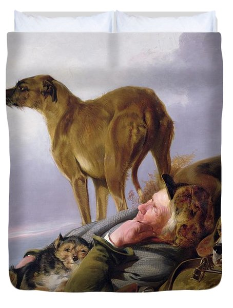 The First Watch Duvet Cover by Richard Ansdell