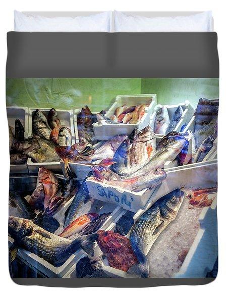 The Fish Market Duvet Cover