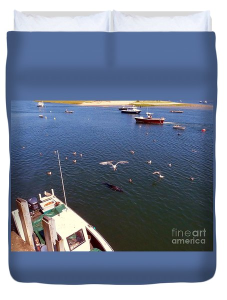 The Fishing Docks Duvet Cover
