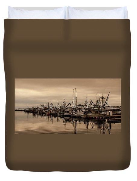 The Fishing Fleet Duvet Cover by Tony Locke
