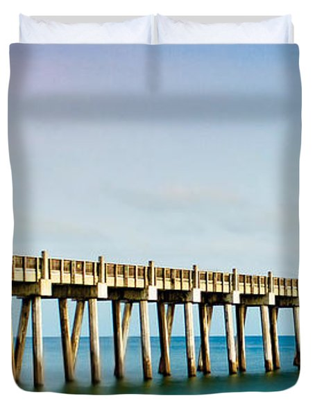 The Fishing Pier Duvet Cover