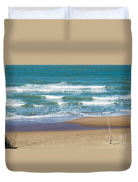 The Fishing Pole Duvet Cover