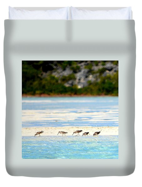 The Five Sandpipers Duvet Cover