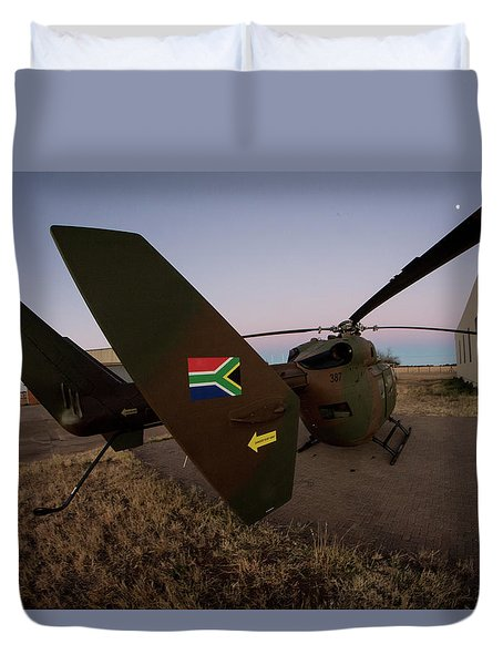 Duvet Cover featuring the photograph The Flag by Paul Job