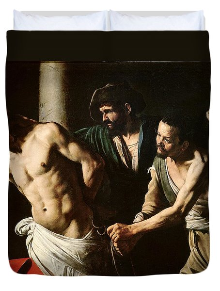 The Flagellation Of Christ Duvet Cover by Caravaggio